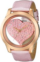 GUESS GUESS? Women's U0113L5 Leather Quartz Watch with Dial