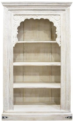 Robert Mark Salem Wooden Bookshelf White