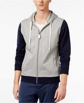 Bar III Men's Zip Cotton Pajama Hoodie, Only at Macy's