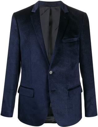 Karl Lagerfeld Paris Clever metallic-flocked blazer