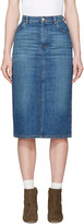 Alexachung Blue Denim Midi Skirt