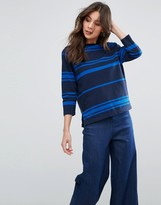 YMC Engineered Stripe Long Sleeved Tee
