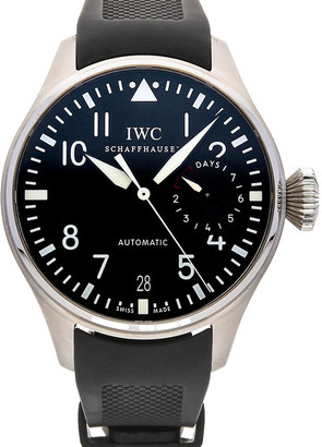 IWC Black Stainless Steel Big Pilot IW5004-01 Men's Wristwatch 46 MM