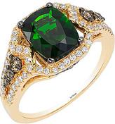 LeVian Le Vian Chocolatier 14K 0.59 Ct. Tw. White & Brown Diamond & Gemstone Ring