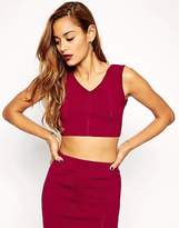 Asos Co-Ord Cropped Singlet In Structured Knit