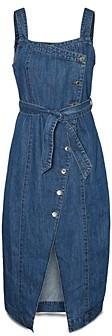 Vero Moda Yasemin Asymmetric Button Denim Dress