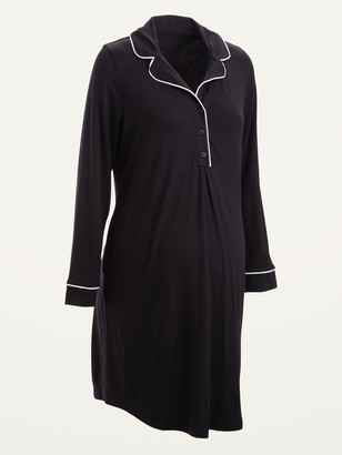 Old Navy Maternity Jersey-Knit Long-Sleeve Nightgown