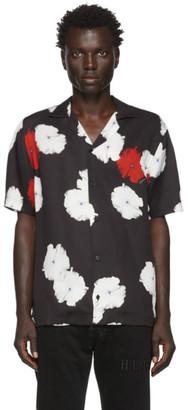 Saturdays NYC Black Canty Moon Flower Shirt