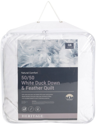 Heritage 50/50 White Duck Down & Feather Quilt No Colour