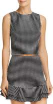 Aqua Check Print Cropped Top - 100% Exclusive