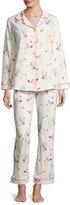 BedHead Fifi Long-Sleeve Printed Classic Pajama Set, White Pattern