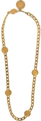 Chanel Pre Owned 1990s Medallion Chain-Link Necklace