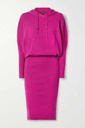 Tom Ford Hooded Ribbed Cashmere-blend Dress