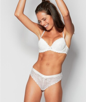 Bras N Things Posie Lace Brazilian Knicker - Ivory