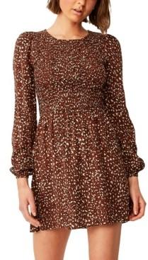 Cotton On Women's Woven Hope Long Sleeve Mini Dress