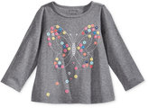 First Impressions Long-Sleeve Graphic-Print T-Shirt, Baby Girls (0-24 months), Only at Macy's