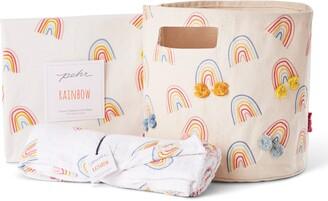 Pehr Happy Days Crib Sheet, Swaddle & Canvas Bin Bundle Set