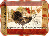 Certified International Tuscan Rooster 16x12 Rectangular Platter