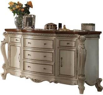 Sundquist 5 Drawer Combo Dresser Astoria Grand Color: Antique Pearl/Cherry Oak