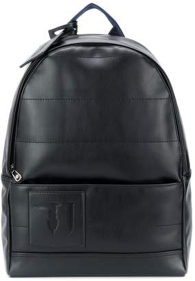 Trussardi Jeans logo patch back pack