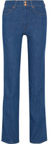 MiH Jeans Berlin High-rise Straight-leg Jeans - Mid denim