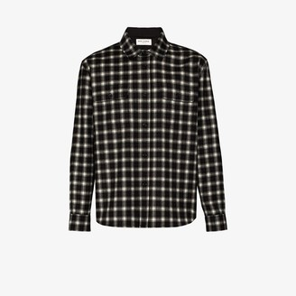 Saint Laurent Long Sleeve Checked Overshirt