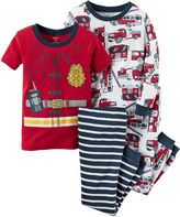 Carter's 4-pc. Fireman Pajama Set - Baby Boys newborn-24m