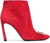 Roger Vivier Buckle-embellished Suede Ankle Boots