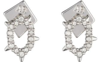 Alexis Bittar Crystal Encrusted Spiked Stud Earrings, Silver