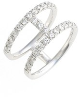 Nordstrom Women's Bony Levy 'Prism' Two-Row Bar Diamond Ring Exclusive)