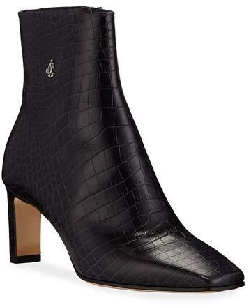 Jimmy Choo Minori Mock Croc Booties
