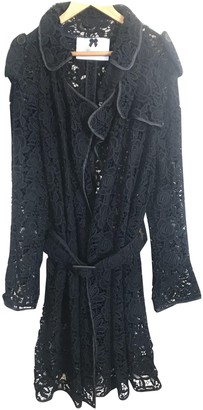 Blumarine Black Cotton Trench Coat for Women