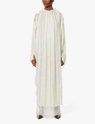 Phaedo Sheer silk maxi dress