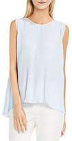 Vince Camuto Sleeveless Pleated Blouse