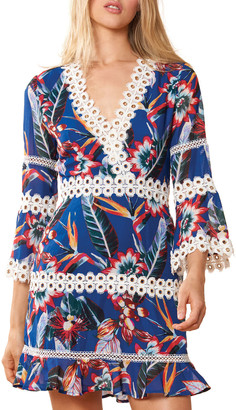 Red Carter Willow Floral-Print Coverup Dress