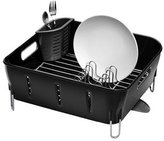 Simplehuman Compact Dish Rack, Black Plastic
