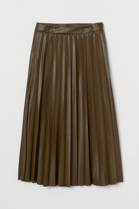 H&M Faux Leather Skirt - Green