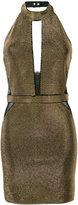 Balmain fitted halterneck dress - women - Viscose/Spandex/Elastane/Aluminium - 36