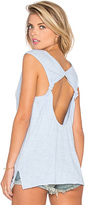 Bobi Cotton Slub Open Back Tank