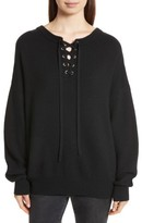 Robert Rodriguez Women's Lace-Up Merino Wool & Cashmere Sweater