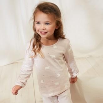 The White Company Bear-Print Pyjamas (1-12yrs), Pink, 7-8yrs