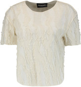 By Malene Birger Talisae frayed cotton-blend top