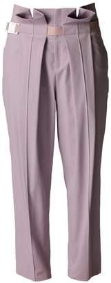 Petja Zorec Lavender Front-Pleat Trousers