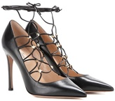 Valentino Garavani Rockstud Leather Lace-up Pumps