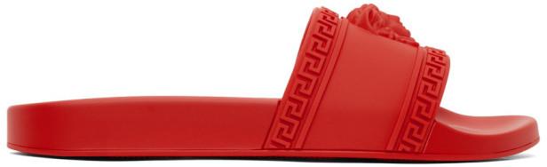 Versace Red Medusa Pool Slides