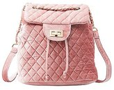 Charlotte Russe Quilted Velvet Backpack
