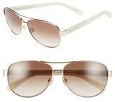 Kate Spade Women's 'Dalia2' 58Mm Aviator Sunglasses - Gold