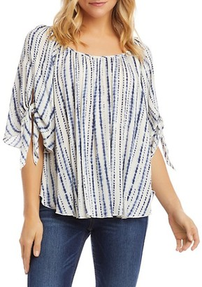Karen Kane Striped Tie-Dyed Top