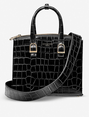 Aspinal of London Madison midi crocodile-embossed leather tote bag