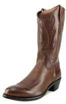 Lucchese Ranch Hand Men 2e Round Toe Leather Brown Western Boot.